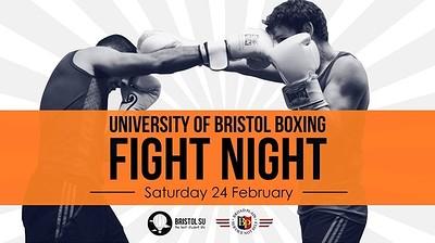 University of Bristol Boxing Club Fight Night 2018 at Bristol University Students' Union in Bristol