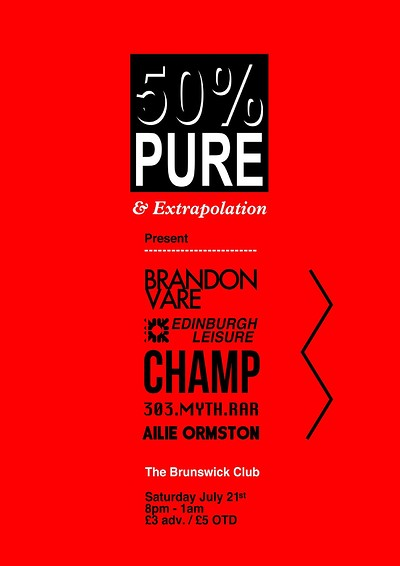 50% OFF, PURE TOUR at Brunswick Club in Bristol