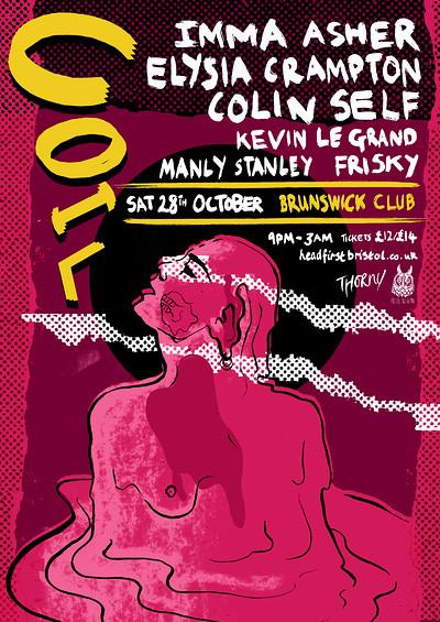COIL 2: Imma Asher / Elysia Crampton / Colin Self at Brunswick Club in Bristol