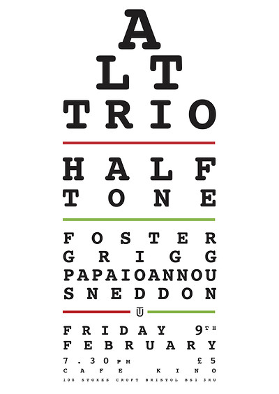 ALT Trio Halftone Foster/Grigg/Papaioannou/Sneddon at Cafe Kino in Bristol