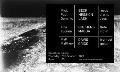 Beck Hession Lash / Hitchens Magda /   Davis Grigg at Cafe Kino in Bristol