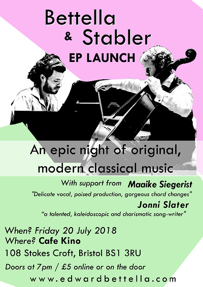 Bettella & Stabler: EP Launch at Cafe Kino in Bristol