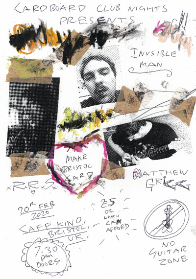 Cardoard Club Nights: Invisible Man / RRS / Grigg at Cafe Kino in Bristol