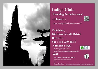"""CD Launch """"Reaching for Deliverance"""" at Cafe Kino in Bristol"""