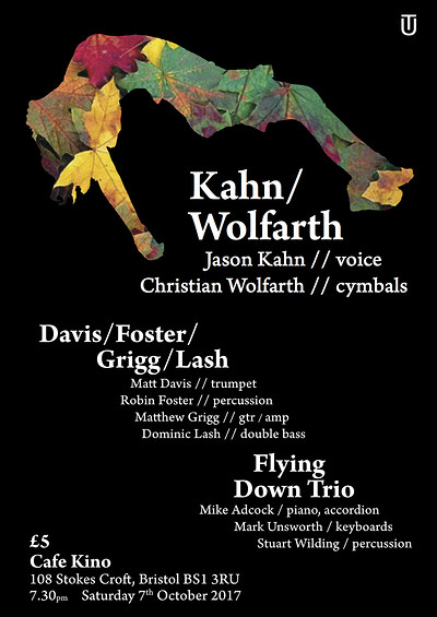Jason Kahn/Christian Wolfarth (USA/CH) + guests at Cafe Kino in Bristol