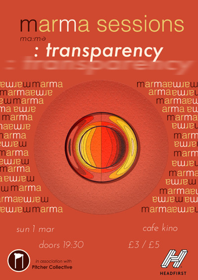 Marma Sessions: Transparency at Cafe Kino in Bristol