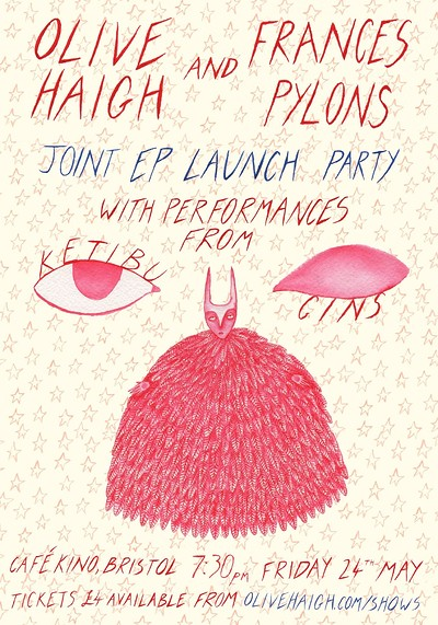 Olive Haigh & Frances Pylons Joint EP Launch Party at Cafe Kino in Bristol