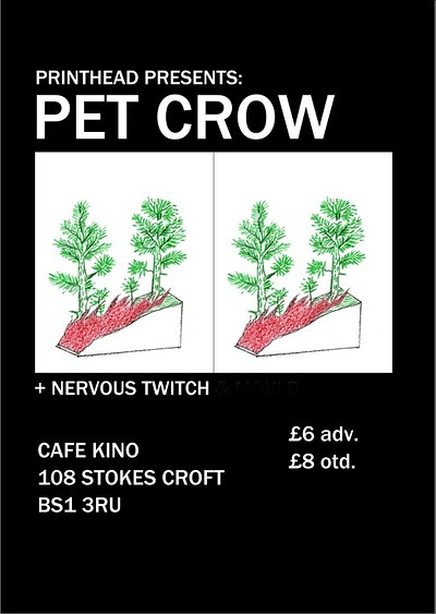 Printhead: Pet Crow + Nervous Twitch at Cafe Kino in Bristol