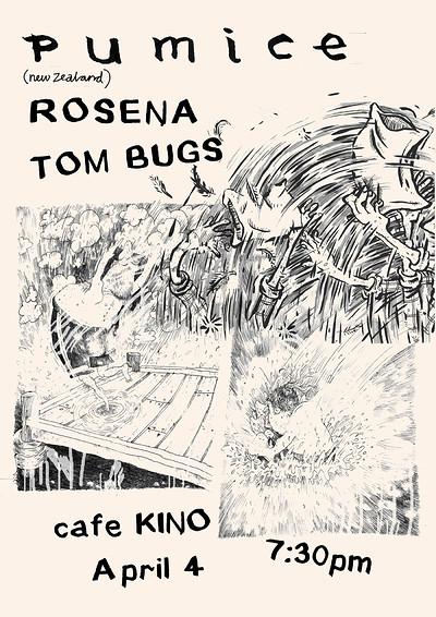 Pumice   Rosena   Tom Bugs at Cafe Kino in Bristol