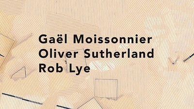 Rob Lye, Gael Moussonnier and Oliver Sutherland at Caraboo Projects in Bristol