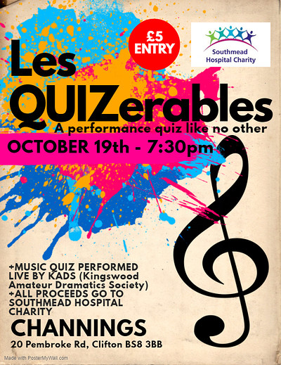 Les QUIZerables the singing quiz at Channings, Clifton in Bristol