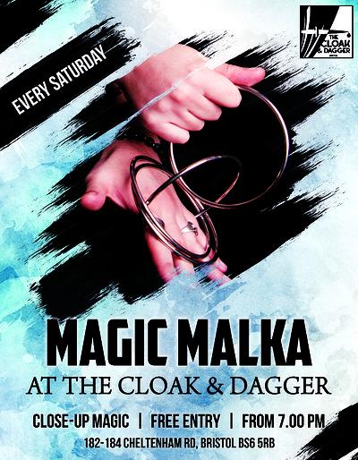 Close Up Magic with Magic Malka at Cloak and Dagger in Bristol