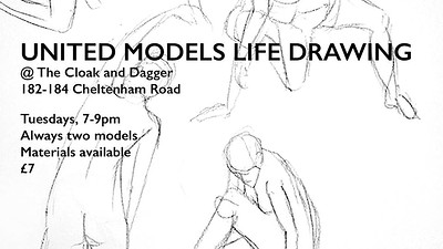 United Models Life Drawing at Cloak and Dagger in Bristol