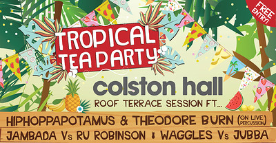 Tropical Tea Party's Roof Terrace Party at Colston at Colston Hall in Bristol