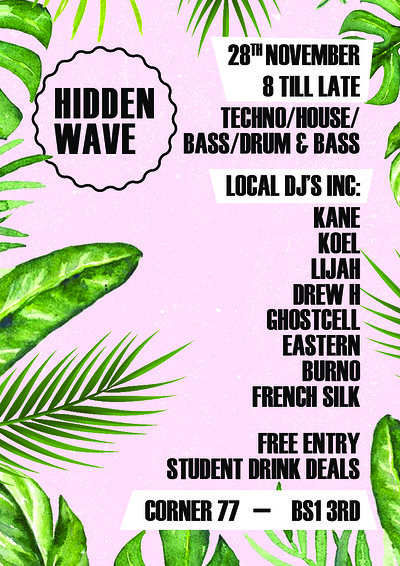 Hidden Wave  at Corner 77 in Bristol
