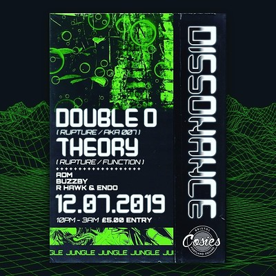 Dissonance 003 - Double O + Theory (Rupture)  at Cosies in Bristol