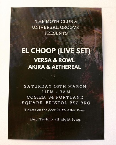 El Choop (Live), Versa & Rowl + More  at Cosies in Bristol