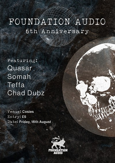 Foundation Audio 6th Anniversary at Cosies in Bristol