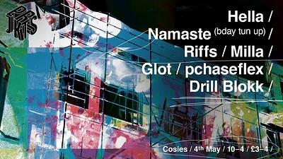 Prjkts ☰ Hella + Namaste (bday tun up) at Cosies in Bristol