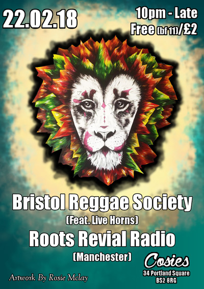 Reggae Society Feb Session! at Cosies in Bristol