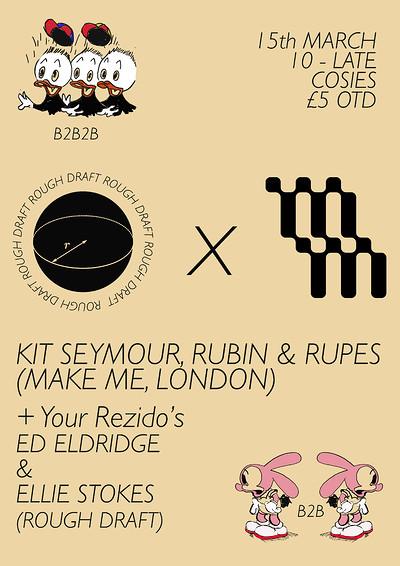 Rough Draft w/Kit Seymour, Rubin & Rupes (Make Me) at Cosies in Bristol