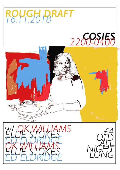 Rough Draft w/ Ok Williams, E.Stokes & E.Eldridge at Cosies in Bristol