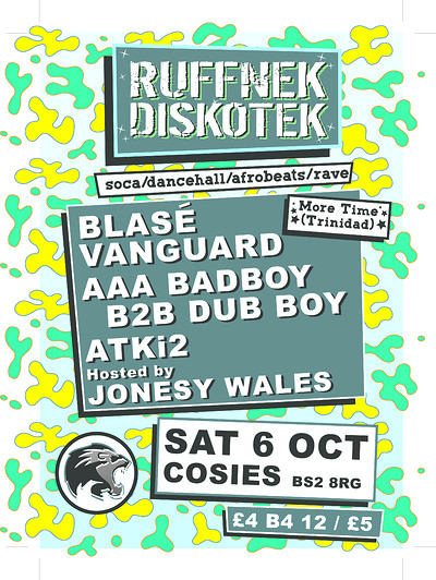 Ruffnek Diskotek ft Blasé Vanguard at Cosies in Bristol