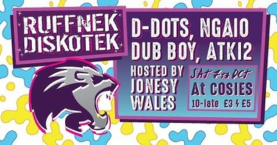 Ruffnek Diskotek ft D-Dots & Ngaio at Cosies in Bristol