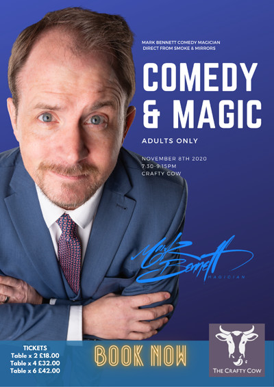 The Stand Up Magician - Comedy & Magic Show  at Crafty Cow, Gloucester Road in Bristol