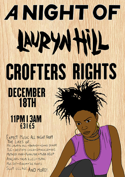 A Night Of: Ms Lauryn Hill  at Crofters Rights in Bristol
