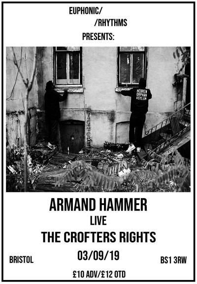 Armand Hammer/Kinlaw & Franco/DJ Taye/WithDrawn at Crofters Rights in Bristol
