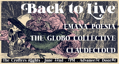 Back To Live | 'Emana Poesia' & 'The Globo Collect at Crofters Rights in Bristol