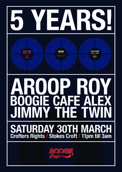 Boogie Cafe 5th Birthday with Aroop Roy at Crofters Rights in Bristol