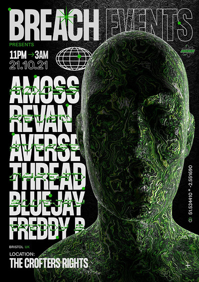 Breach: Amoss, Revan, Bluejay,  Averse and Thread at Crofters Rights in Bristol