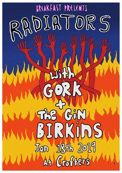 Breakfast Presents: Radiators, Gork & The Gin Birk at Crofters Rights in Bristol