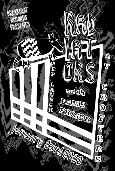 Breakfasts presents RADIATORS and DAMEFRISØR at Crofters Rights in Bristol