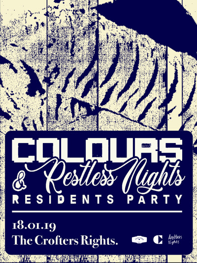 Colours x Restless Nights: Residents Party at Crofters Rights in Bristol