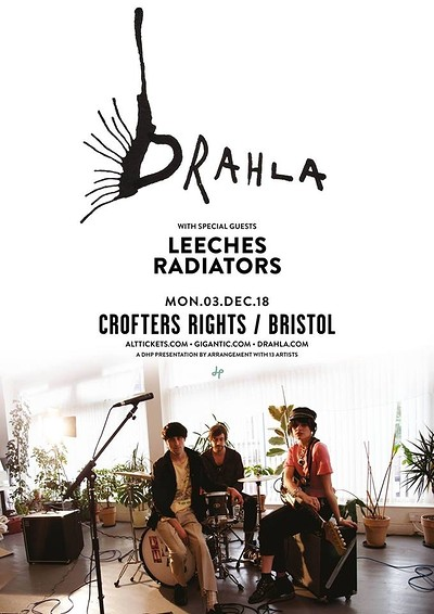Drahla at Crofters Rights in Bristol