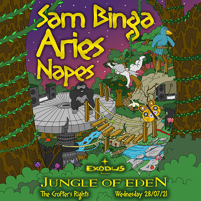 Exodus Presents Jungle Of Eden at Crofters Rights in Bristol