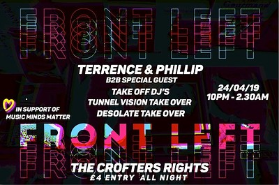 FRONT LEFT // TERRENCE & PHILLIP B2B SPECIAL GUEST at Crofters Rights in Bristol