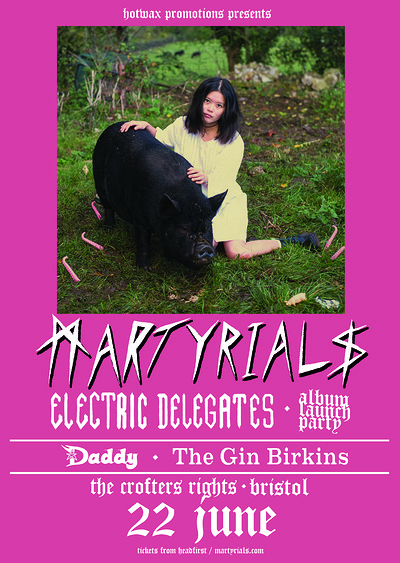 HW: Martyrials 'Electric Delegates' Album Launch at Crofters Rights in Bristol