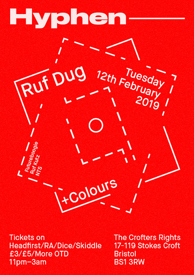 Hyphen Launch w/ Ruf Dug (NTS / Ruf Kutz) at Crofters Rights in Bristol