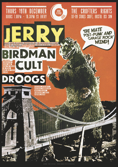 Jerry / Birdman Cult / DROOGS at Crofters Rights in Bristol