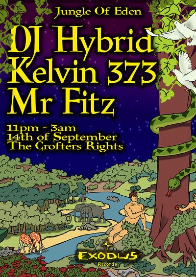 Jungle Of Eden - DJ Hybrid, Kelvin 373 & Mr Fitz at Crofters Rights in Bristol