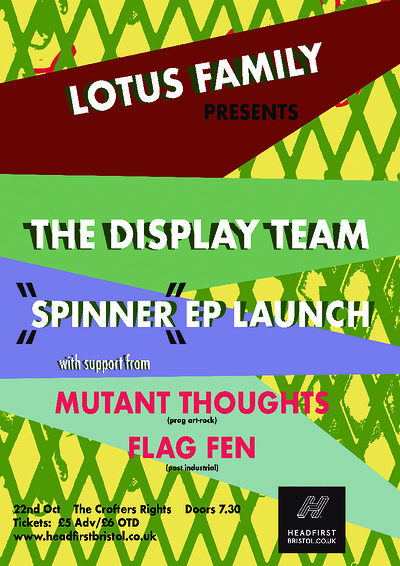LF: The Display Team / Mutant-Thoughts / Flag Fen at Crofters Rights in Bristol