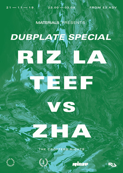Materials: Dubplate Special  at Crofters Rights in Bristol