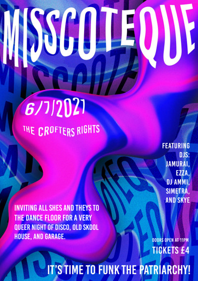 Misscoteque (Postponed to August 3rd) at Crofters Rights in Bristol
