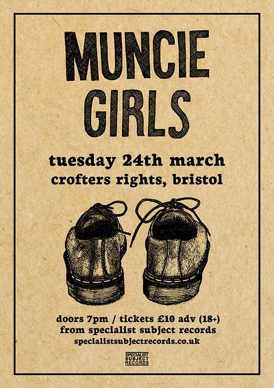 Muncie Girls / Perkie / Soot Sprite at Crofters Rights in Bristol