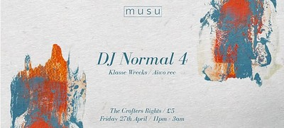 Musu ft. DJ Normal 4 at Crofters Rights in Bristol