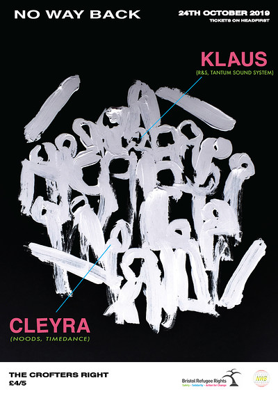 No Way Back Presents: Klaus & Cleyra at Crofters Rights in Bristol